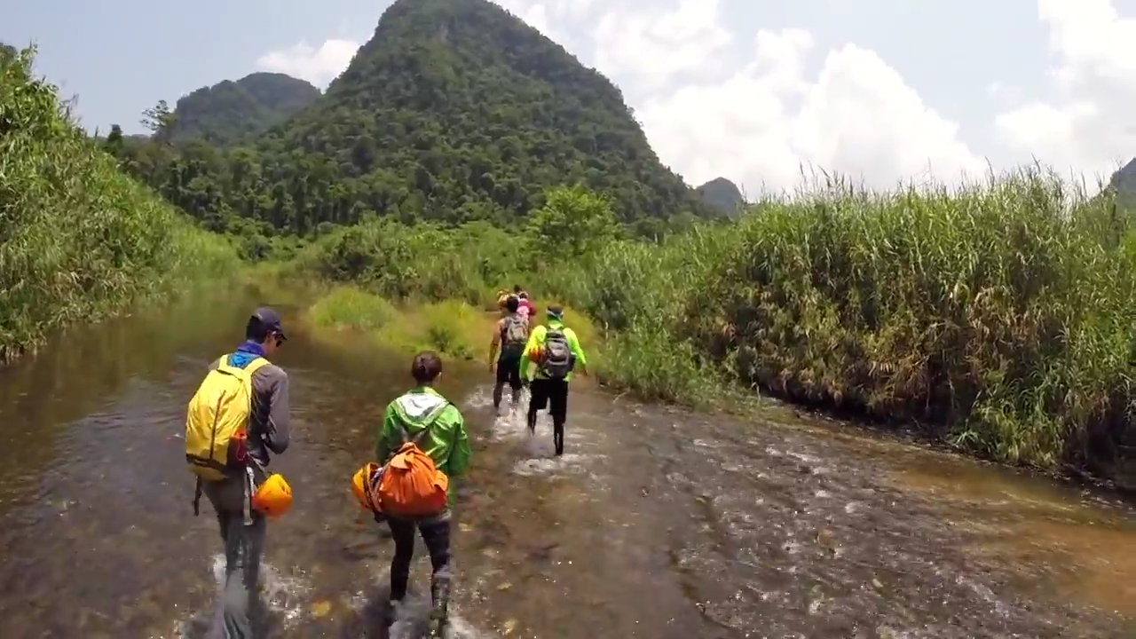 Trek in the forest in Quang Binh